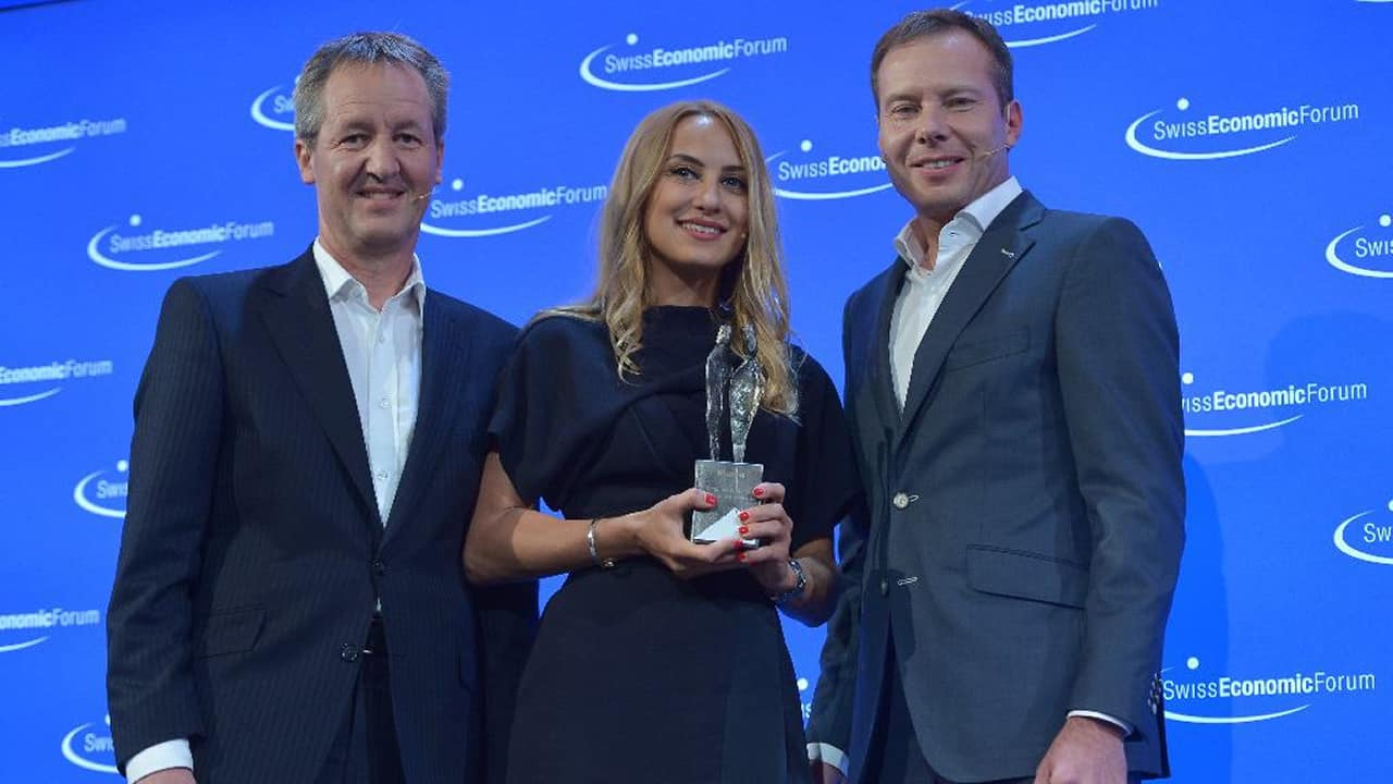 Luiza Dobre, Komed Health - Awarded the Niesen Bergpreis 2019 by the Swiss Economic Forum